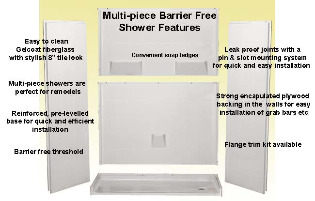 disabled shower stall features
